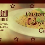 louies grill Loyalty Card front