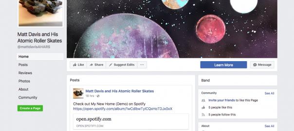Matt Davis and His Atomic Roller Skates FB Page